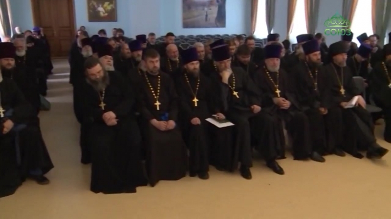В конференц-зале Омской духовной семинарии состоялось ежегодное епархиальное собрание духовенства