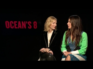 part 1 Cate Blanchett and Sandra Bullock discuss the chemistry between Lou and Debbie. Oceans8