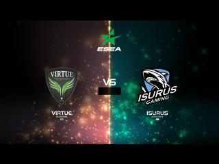 (RU) ESEA Open Season 28 South Brazil I Virtue vs Isurus  I bo3 I by Holarious & c0sta