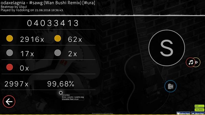 Osu taiko n1doking 🇺🇸 odaxelagnia sawg Wan Bushi Remix ura HD HR 99 68% 1 FC 608pp