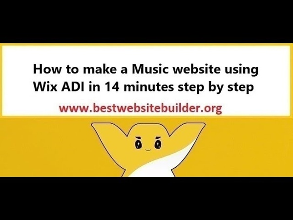 How to make a Music website using Wix ADI in 14 minutes step by step