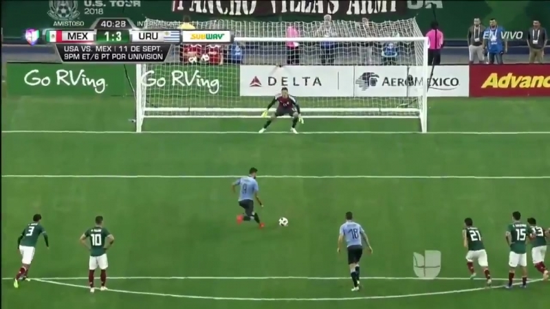 Luis Suárez put on an incredible show in MEXURU tonight. - - Golazo on a free kick - Panenka penalty - Rabona assist - - Three m