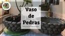 DIY -VASO COM CIMENTO E ISOPOR SEM MOLDES