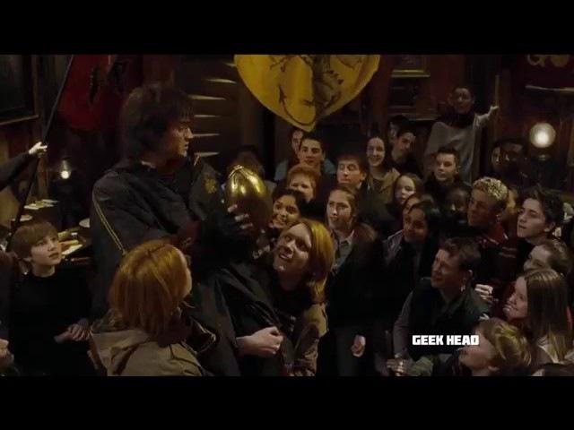 Гарри Потер открывает яйцо. Фрагмент из фильма