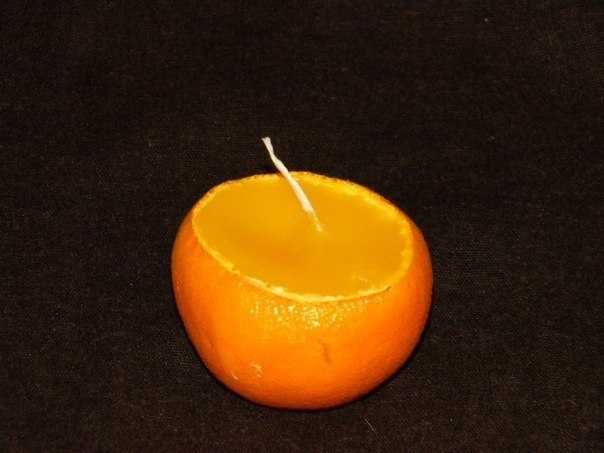 Свеча-мандаринка за 10минут