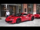 Шарль со своей девушкой за рулем первой в Монако Ferrari 488 PISTA
