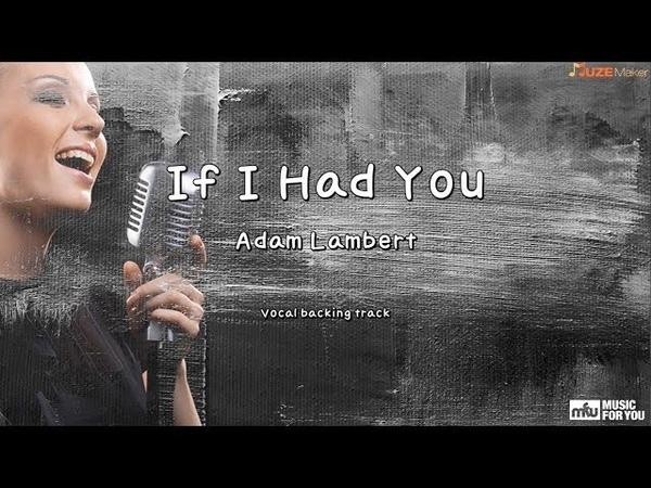 If I Had You - Adam Lambert (Instrumental Lyrics)