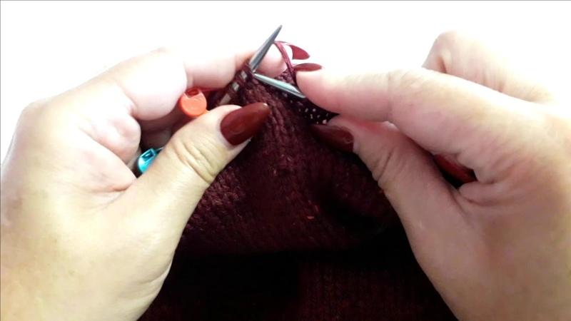 Как закруглить СПИНКУ пуловера, при помощи, УКОРОЧЕННЫХ РЯДОВ Мастер класс
