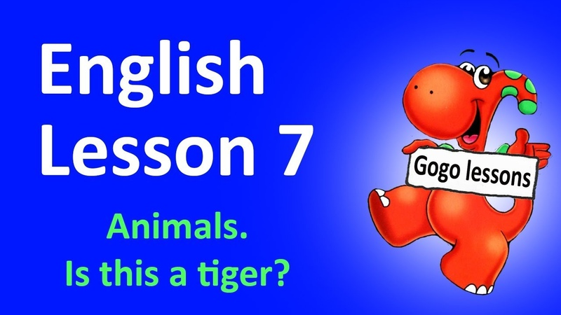 English Lesson 7 - Learn Zoo Animals for kids. Question Grammar. That This Song.