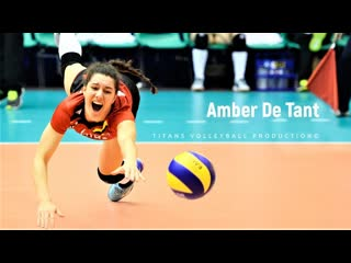 Amber de tant amazing belgium libero. crazy volleyball actions. digs. saves