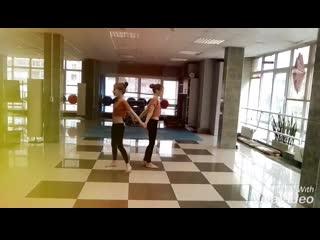 Акробатический дуэт- Никифорова Дарья,Дмитриева Софья-постановочная работа
