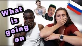 American reacts to Russian songs LITTLE BIG-AK-47; Киркоров, Басков-Ibiza | THE MIXED FAMILY