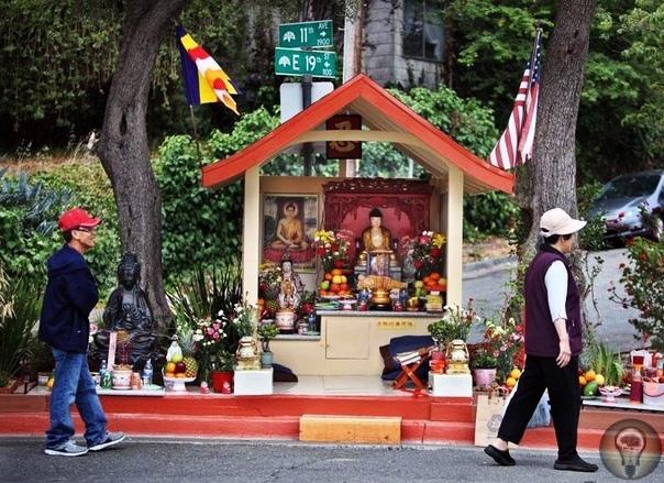 Установленная на улице статуя Будды искоренила преступность в криминальном районе Дэну Стивенсону не повезло жить в криминальном районе города Окленд, США. На улицах слонялись наркоторговцы,