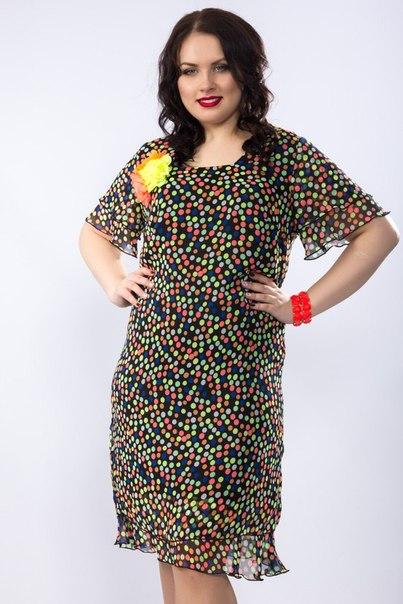 Прямое платье из шифона