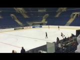 ISU JGP Bratislava 2018 Анна Щербакова тренировка ПП 4Lz+3T