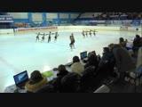 ЧиП России по синхр 2019, 1 сп. разряд ПП, программа 9# Олимпийский Юн