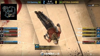 CS:GO POV DETONA vsm (28/15) vs C4 | de_mirage @Alienware Liga Pro Gamers Club - SEP/18