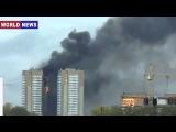 Пожар в Красноярске: Горят все 25 этажей жилого дома