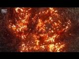 Макросъемка горящей проволки