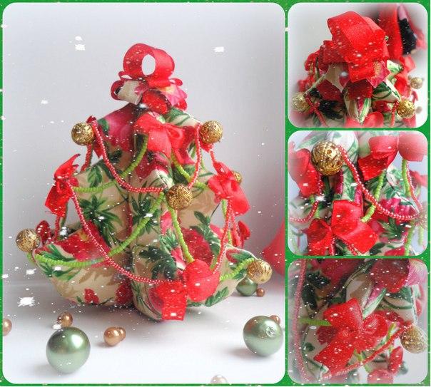 Яркая и оригинальная текстильная новогодняя елочка. Эта красавица украсит ваш дом или офис и создаст… (2 фото) - картинка