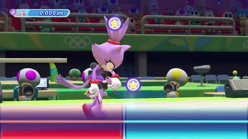 GAME Blaze the cat Mario and Sonic at the Rio 2016 Olympic Games