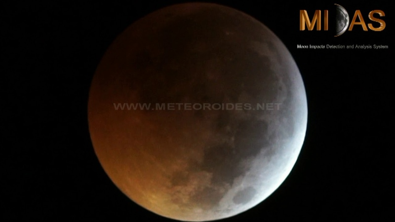 Impact on the Moon during the Jan 21 lunar eclipse
