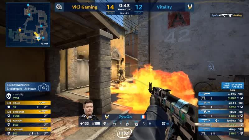 ZywOo vs ViCi - 4 kills with AK