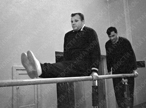 Тренировки Юрия Гагарина