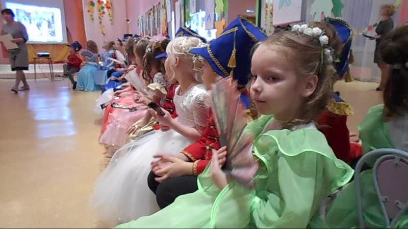 Внучка Ксения на Пушкинском балу в ЦРР Д/С №16 01.11.2018г.