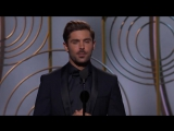 Golden Globe Awards on Twitter- Zac Efron introduces a clip from his Best Motion Picture - Musical or Comedy nominated film, Gre