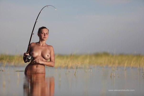 сиськи на рыбалке