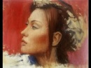 Girl Portrait Painting In Oil On Canvas By Sergey Gusev.