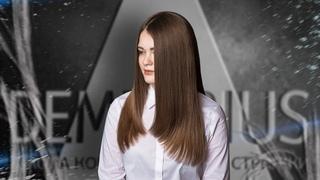 DEMETRIUS   Женская стрижка треугольник на густые волосы   Стрижка на длинные волосы