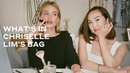 Chriselle Lim shows Rosie Huntington Whiteley what's in her bag