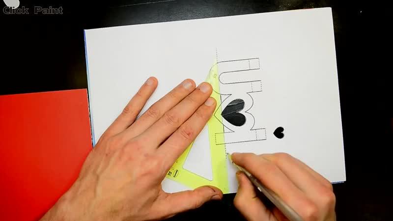 Как сделать 3D Открытку Своими Руками 3D Pop up card I Love You