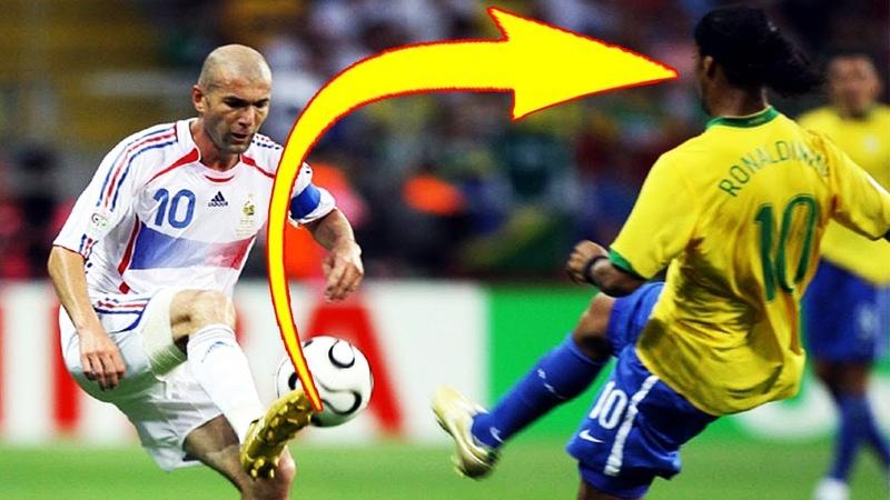 Только ЗИДАН мог делать ЭТО Топ 10 навыков финтов в футболе