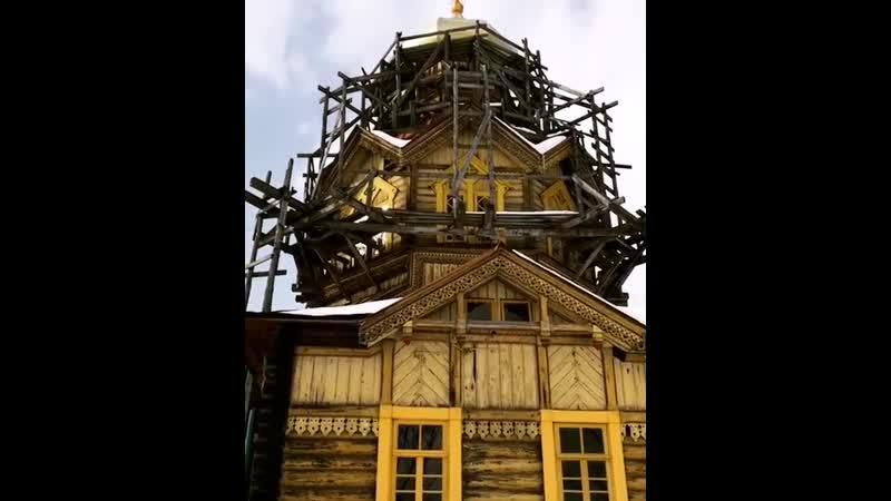 Церковь в селе Ольгино Уярского района