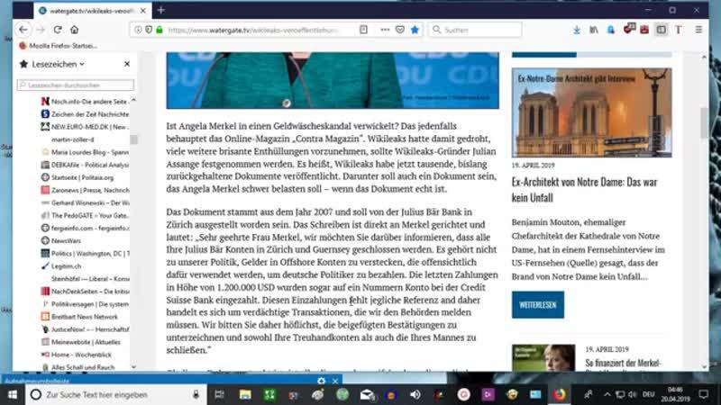 18-04-19 Wikileaks-Veröffentlichung soll Merkel schwer belasten