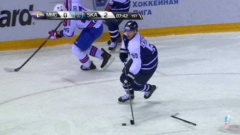 Моменты из матчей КХЛ сезона 14 15 Гол 1 2 Зарипов Данис Металлург Мг сокращает разрыв в счете 24 12