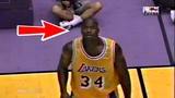 Shaquille O'Neal Breaks Main Camera After a Monster Block! (Rare)