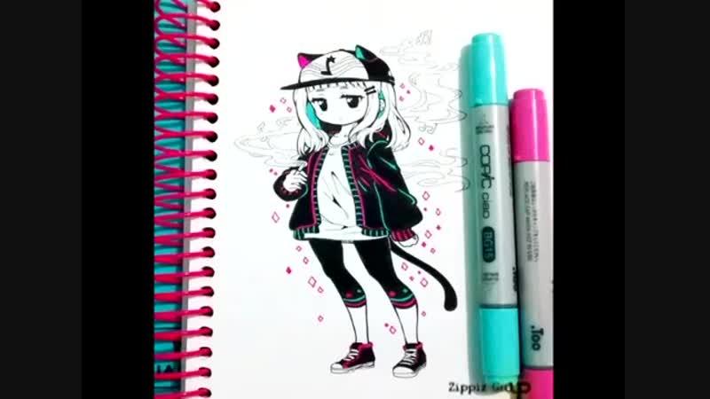 Рисунки цветные Аниме