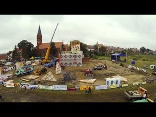 Храм за сутки (23 часа 35 минут) построили в городе Скаршевы (Польша)