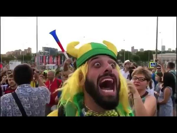 Все видео бразильского болельщика на ЧМ 2018 по футболу Россия оху Яна братан 👍👍🇷🇺🇷🇺🇷🇺👍👍