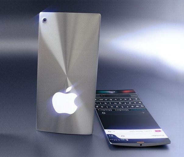 Дизайнер представил концепт iPhone 7 с изогнутым экраном и хромированн