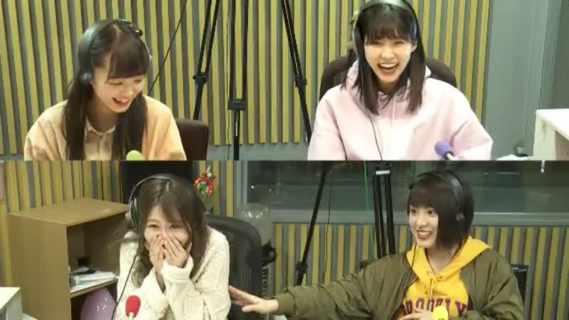 190116 AKB48 no All Night Nippon (Komiyama Haruka, Taniguchi Megu, Yamada Nanami, Fukuda Akari)