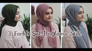 ŞAL BAĞLAMA 3 Farklı Stil Hijab Tutorial