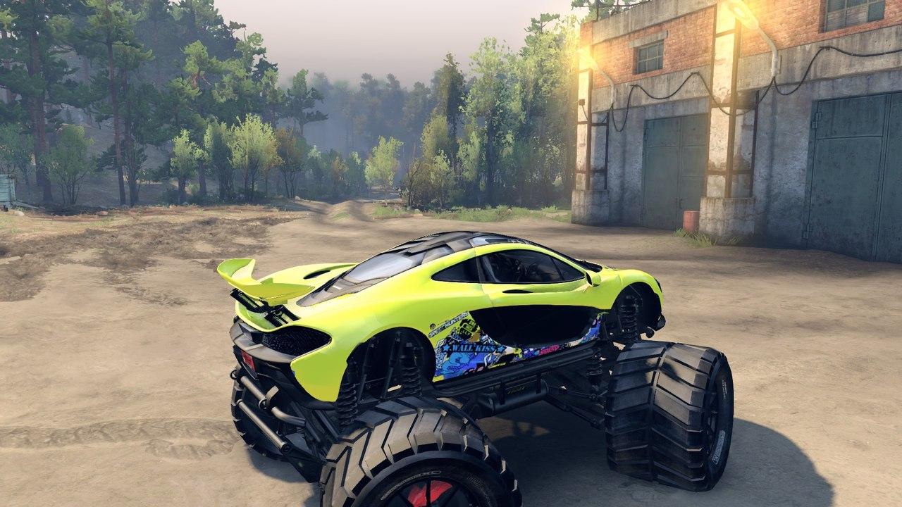 McLaren P1 Monster truck. для Spintires - Скриншот 2