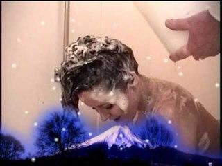 Christina Carter gets Slathered and Shampooed !!