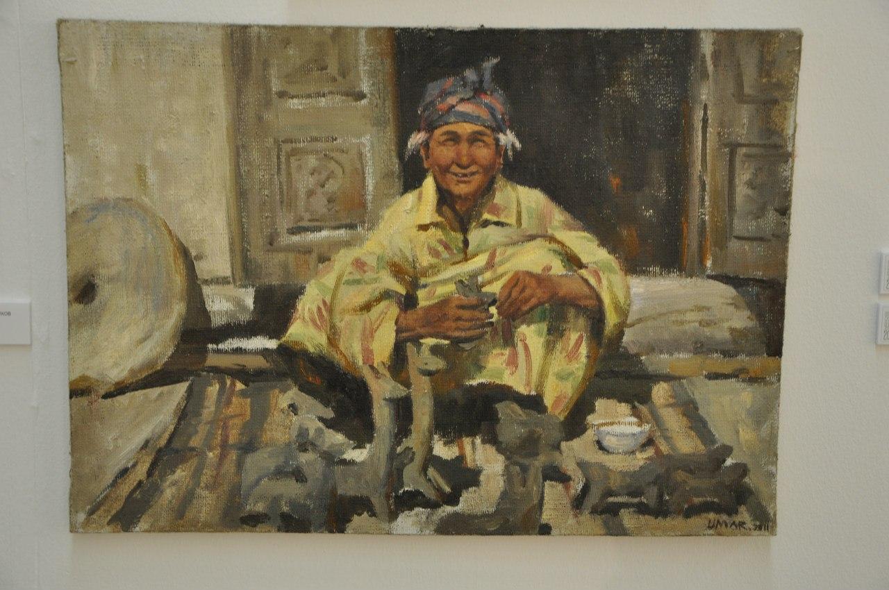 Творческое объединение художников Узбекистана  Умар Раджабов (р. 1985)  Улыбка женщины. 2011  Холст, масло