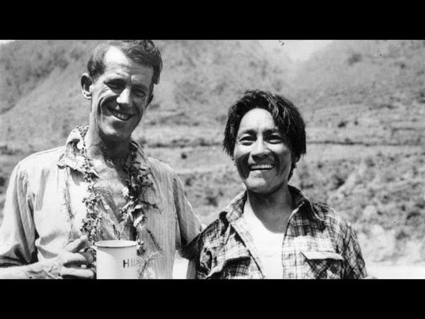 Edmund Hillary and Tenzing Norgay climb Everest 1953 archive video